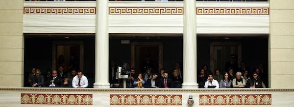 Plenary session at Parliament  /  Συζήτηση στην ολομέλεια της Βουλής