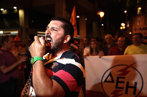 Power Plant Company Workers Protest / Διαμαρτυρία εργαζομένων στην ΔΕΗ